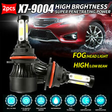 4-Sided 9004 HB1 LED Headlight 2000W 300000LM High Low Beam Bulbs 6500K for Ford