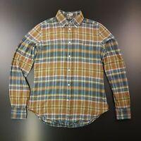 Ralph Lauren Womens Shirt Blouse Size 8 Long Sleeve Regular Fit Check Cotton