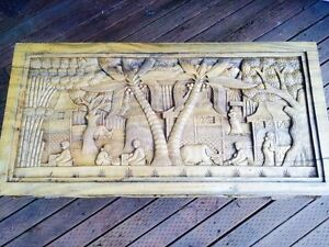Antique Wood Carved Coffee Table