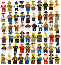 Grab Bag Lot of 60Pcs Minifigures toys Figures Men People Minifigs for LEGO