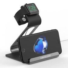 iPhone Dockingstation 2 in 1 Ladestation Apple Watch Ständer Halterung Space Gra