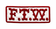 MC F.T.W. RED&WHITE EMBROIDERY BIKER PATCH