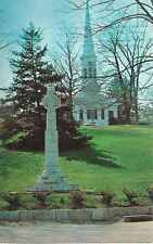 """CT, New  Canaan, Congregational Church,  """" In God's Little Acre """" - Postcard"""