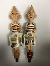Lot of 2 Stevens Point Brewery Conehead tap handles Nude Beach
