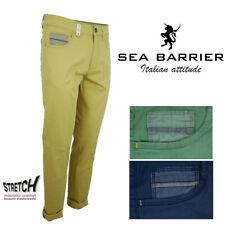 Pantalone da uomo estivo cotone leggero Sea Barrier elasticizzato elegante 48 50