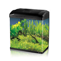7.4L/18L/30L/56L Aquarium Fish GlassTank Fresh Water  LED Light  Filter Black