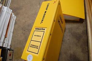KOMATSU PC1800-6 Excavator Trackhoe Crawler Service Repair Manual book shop 2002