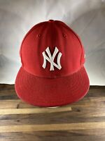Red Baseball new Era MLB New York Yankees 59FIFTY Fitted Hat 7 1/4 cap