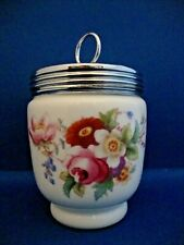 Early Royal Worcester King Size 2 Egg Coddler Old Louise Hand Painted - Initial