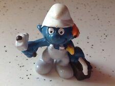 Vintage Smurf Carpenter  Schleich 1983 Peyo