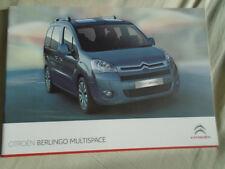Citroen Berlingo Multispace range brochure Oct 2010
