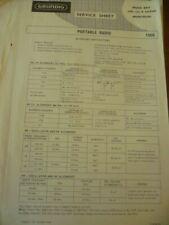 Grundig  Music Boy  208 (A)  Luxus Musicolor  ORIGINAL  Service Manual