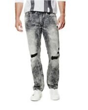 Guess Hombre Slim Recto Jeans In Metrópolis Gris Lavado Talla 32x30