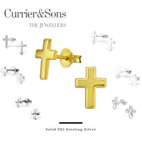 925 Sterling Silver Cross Design Stud Earrings (Collection 2)