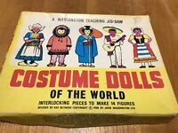 Rare Vintage 1968 Costume Dolls Of The World Waddingtons Jigsaw InComplete