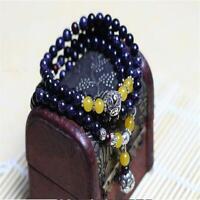 Blue sandstone Bracelet spirituality Hot Lucky Fancy Handmade Healing cuff MONK