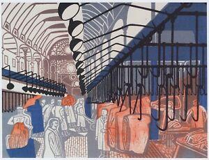 Smithfield Market London Edward Bawden print in 11 x 14 mount ready to frame