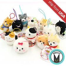 Lot 3x Japan Amuse Puchimaru Wan Nyan All Stars Mascot Plush Phone Strap Dog Cat