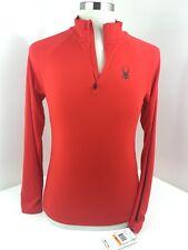 Spyder Mens S Volcano Red 1/2 Zip Workout Outdoor Running Dry Web Light Sweater