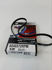 K040372RPM Gates Racing Serpentine Micro-V Racing Belt BLACK ( Blue is NLA)