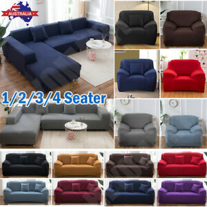 AU Sofa Cover 1/2/3/4 Seater High Stretch Lounge Slipcover Protector Couch Cover