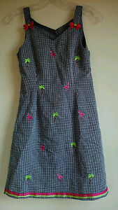 Super nice - BONNIE JEAN Girls Summer Dress - R&W Plaid - Size 12