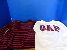 BABY GAP~Lot of 2 LONG SLEEVE Tee T-SHIRTS~Red White Blue~Boys Size 4