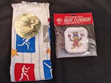 Los Angeles 1984 Olympics Inflatable Seat Cushion & Hand Towel NEW