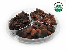 3-Section ORGANIC Dried Fruit Platter-Apricots,Raisins,Dates-2.5LbFREE SHIPPING!