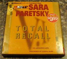 Total Recall by Sara Paretsky (2010 Abridged, Compact Disc) Audiobook Audio Book