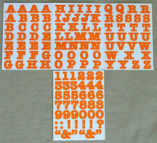 Creative Memories Alphabet Letter ABC and number 123 stickers - Orange