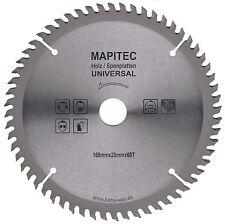 Kreissägeblatt  Ø160mm x 20mm Bohrung  60 Zähne Universalsägeblatt HM Sägeblatt