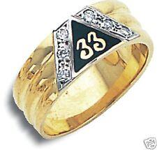 Masonic Scottish Rite 33rd Degree Ring 10K New Diamonds