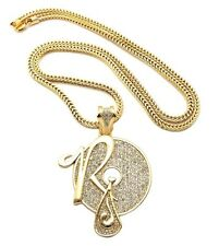 "New Iced Out ROCAFELLA Pendant 4mm&36"" Franco Chain Hip Hop Necklace XP888"