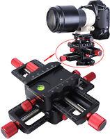 4-way Macro Focusing Rail Slider Camera Close-up Shooting for Tripod BallHead