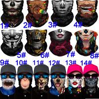 Summer Motorcycle Balaclava Neck Gaiter Tube Bandana Scarf Face Cover Shield