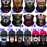 Summer Balaclava Neck Gaiter Tube Bandana Scarf Face Mask Cover Shield Washable