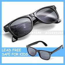 Kid's Fashion Sunglasses UV 400 Boy's Girl's Children Eyewear Black Dark Lens