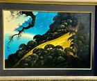 """Eyvind Earle """"Carmel Gold"""" Hand Signed Original Oil on Panel MAKE an OFFER"""