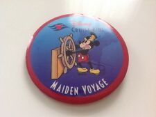Disney Cruise Line large Button pin Captain Mickey Dcl Maiden Voyage