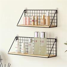 Kitchen Mount Shelf Rack DIY Storage Shelves Office Bedroom Decoration Racks