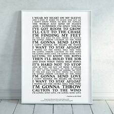 Caution to the Wind Song Lyrics Print Poster (Unframed) Wall Art Decor Gift