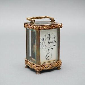 Offiziersuhr antik Frankreich Reisewecker Reiseuhr um 1860 V.RGR