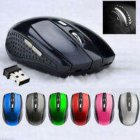 2.4GHZ Wireless Mouse Cordless Optical Scroll Mouse PC Laptop with USB Dongle UK