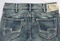 NEW Silver Jeans Men's ZAC Straight Leg Mid Rise Inseam:30/32/34 80719A