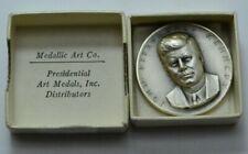 1961 John Fitzgerald Kennedy Presidential Medal Medallic Art Co 999 Silver Round