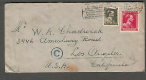 Belgium Nov 1940 WWII German Wehrmacht censor cover Bruxelles to Los Angeles CA