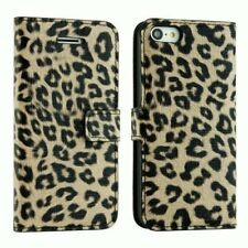 iPhone 6S and iPhone 6 Leather Wallet Case Cover Leopard