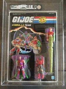 G.I. Joe Cobra La Team Set - AFA 85 - SEALED - 3 Figures NEW