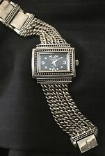 ECCLISSI LARGE SOLID 925 STERLING SILVER CURB LINK BRACELET WATCH 96.7g WOW!!!